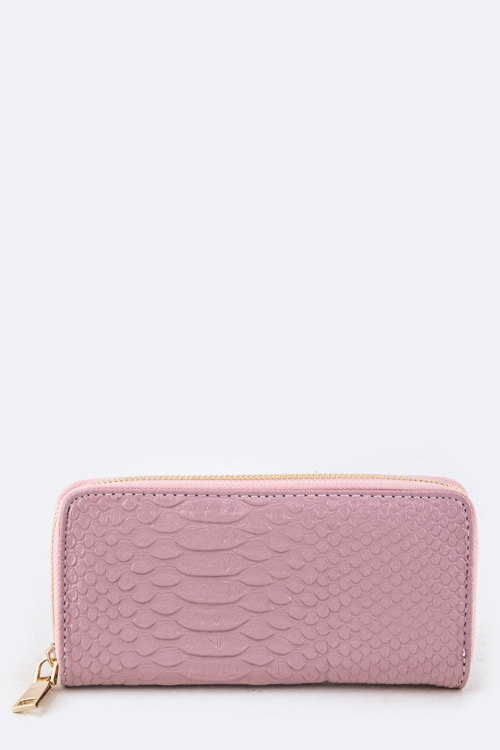 Snake Embossed Wallet - orangeshine.com