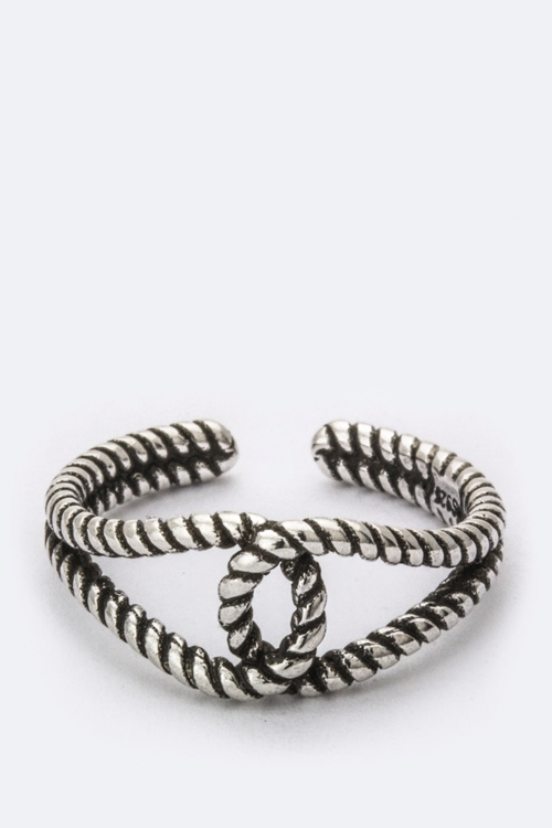 Sterling Silver Rope Ring - orangeshine.com