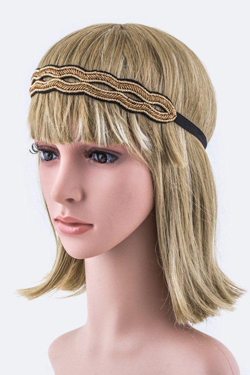 Wavy Layer Stretch Headband - orangeshine.com