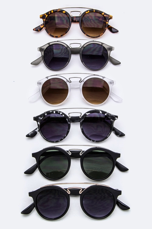 Frame Fashion Round Sunglasses - orangeshine.com