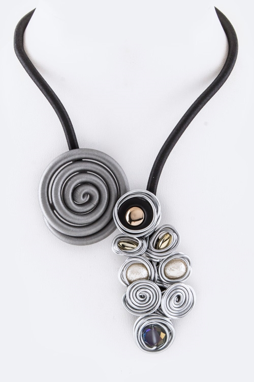 Flex Wire Vortex Necklace - orangeshine.com
