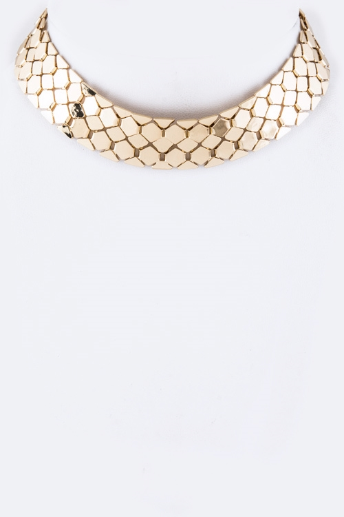 Hex Chain Choker Necklace - orangeshine.com