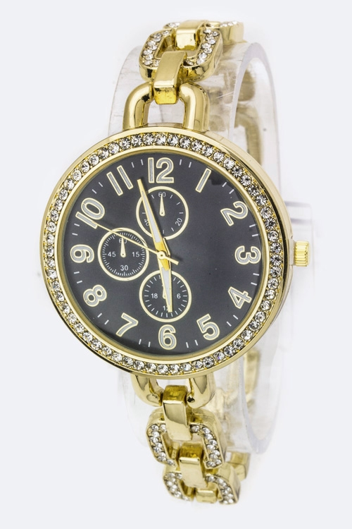 Chain Bracelet Chrono Watch - orangeshine.com