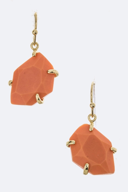 Semi Precious Stone Earrings - orangeshine.com