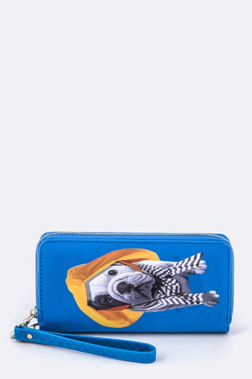 Dog In The Hat Wristlet Wallet - orangeshine.com