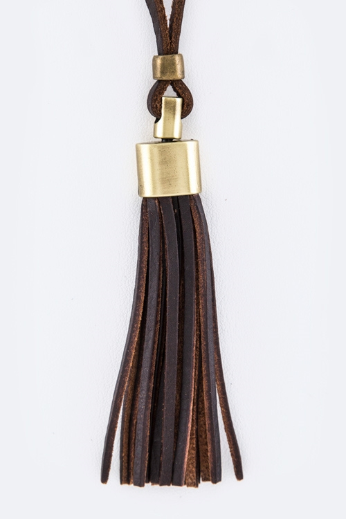 Genuine Leather Tassel Adjusta - orangeshine.com
