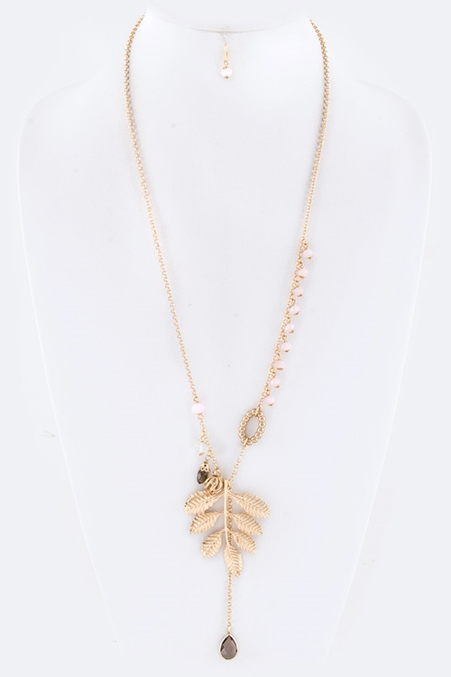 Metal Leaf Necklace - orangeshine.com