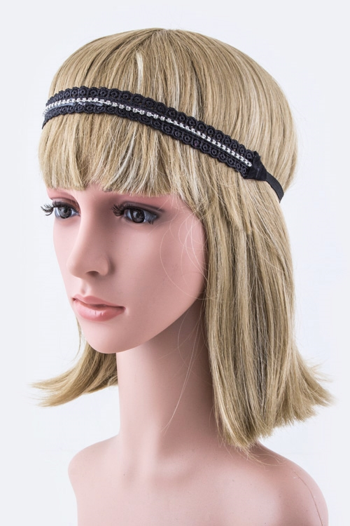 Lace Stretch Headband - orangeshine.com