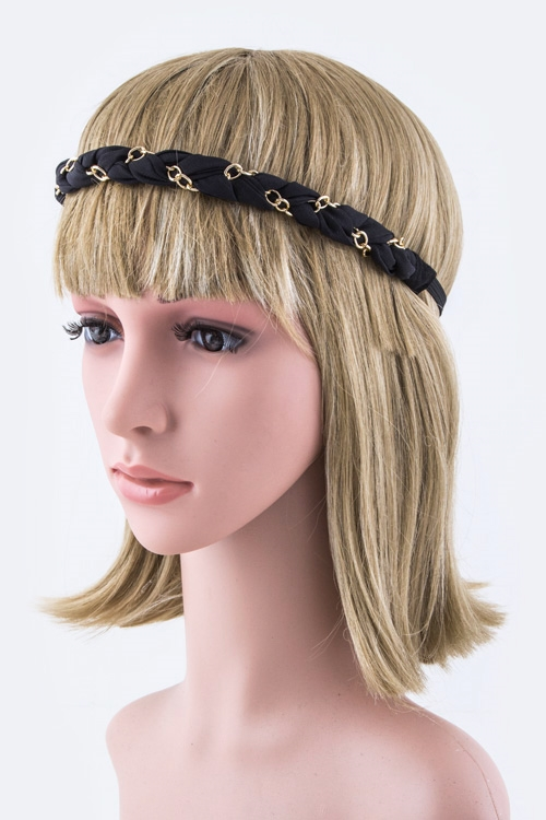 Braided Chain Stretch Headband - orangeshine.com