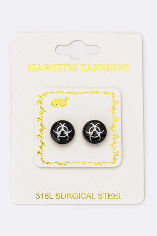 Hazardous Magnetic Earrings - orangeshine.com