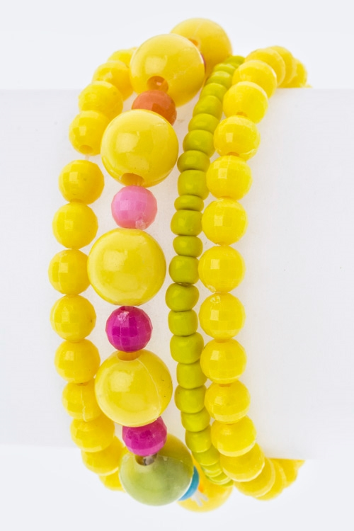 Kids Size Mix Bead Bracelets  - orangeshine.com