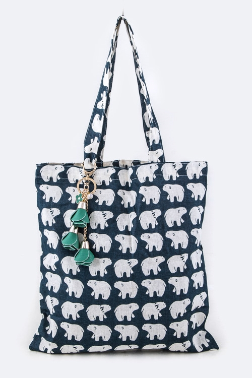 Polar Bear Pattern Tote - orangeshine.com
