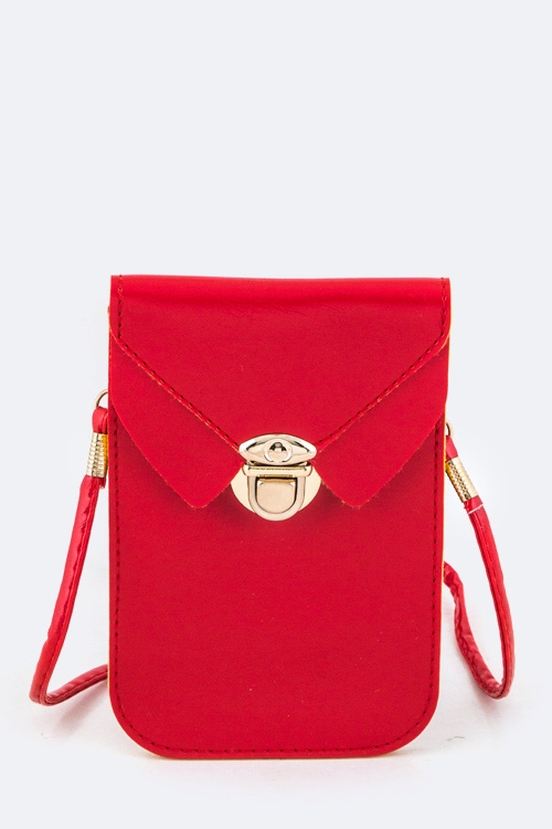 Collar Accent Crossbody Bag - orangeshine.com