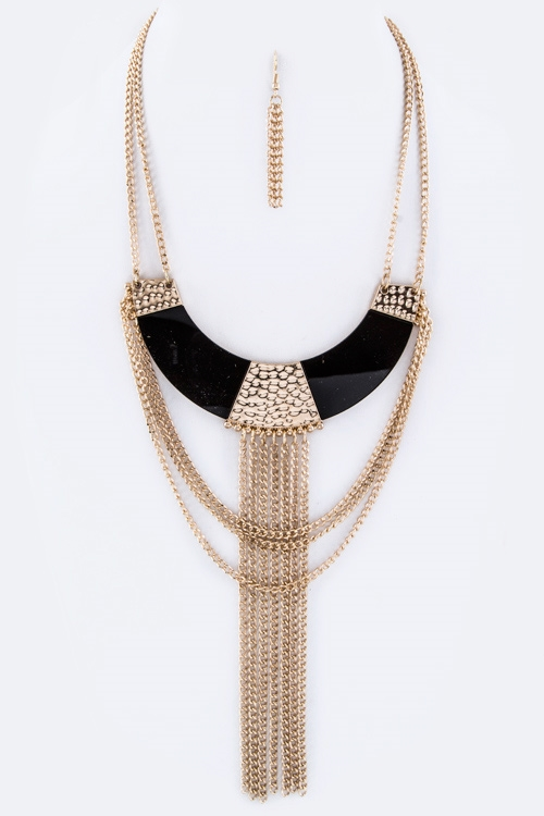 Layer Chians  Collar Necklace - orangeshine.com