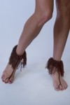 Brown Tassel Anklet - orangeshine.com