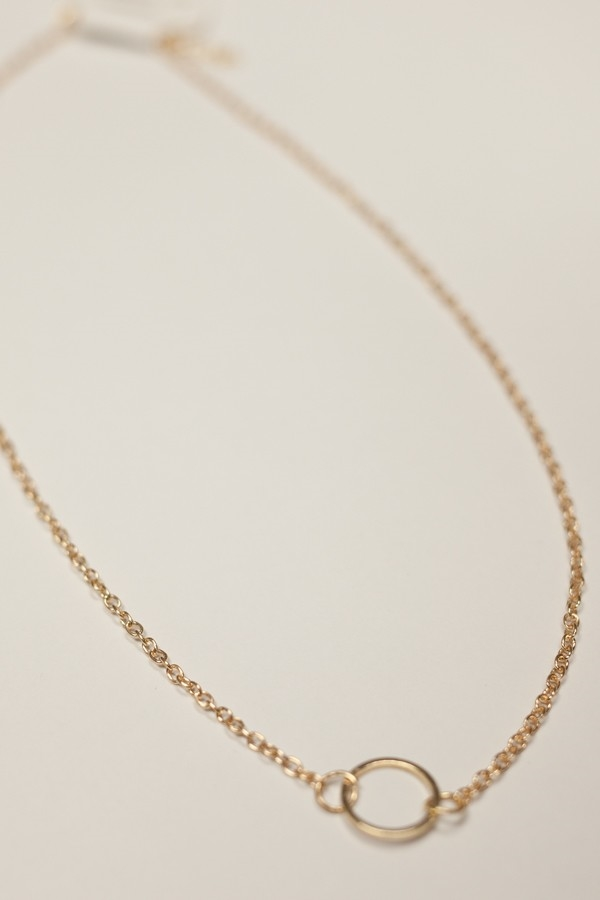 Gold Circle Eternity Necklace - orangeshine.com