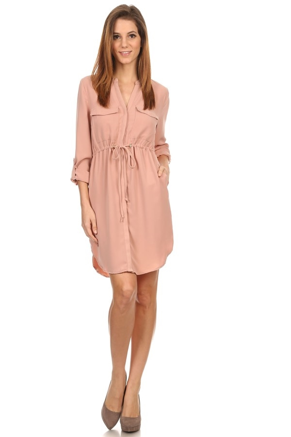 Short Dress in a Relaxed Style - orangeshine.com