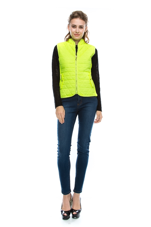 Quilted Padding Vest - orangeshine.com