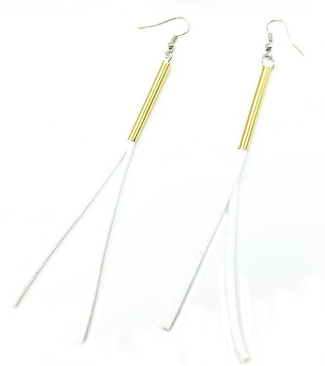 White Suede Earring - orangeshine.com