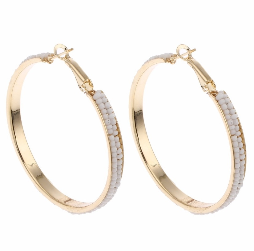 White Hoop Earring - orangeshine.com