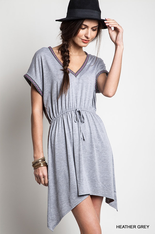 V-NECK FLARE DRESS - orangeshine.com