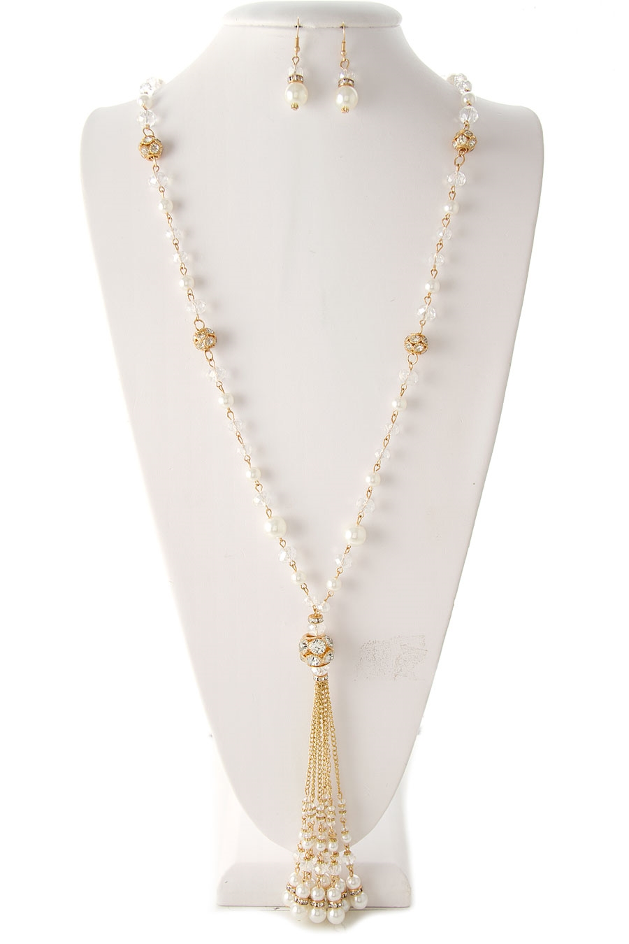 PEARL BEADS TASSEL NECKLACE - orangeshine.com