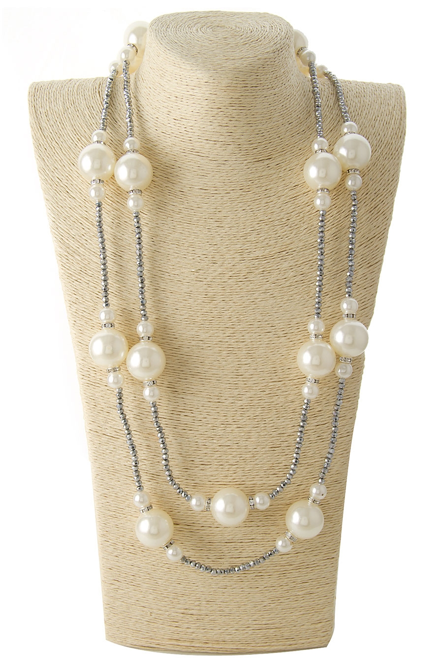 PEARL DESIGN LONG NECKLACE - orangeshine.com