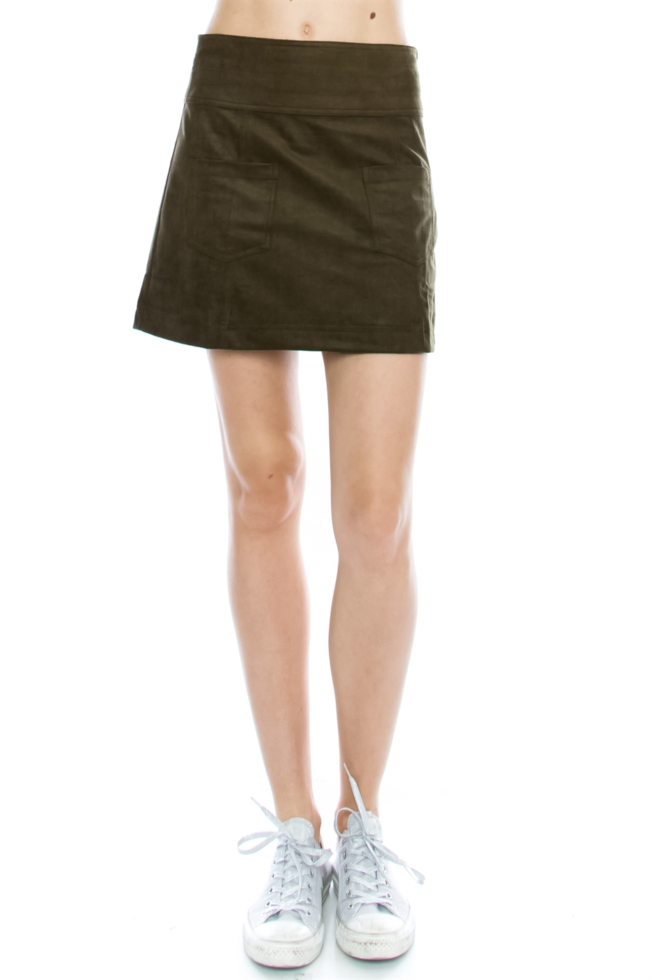FAUX SUEDE SKIRT - orangeshine.com