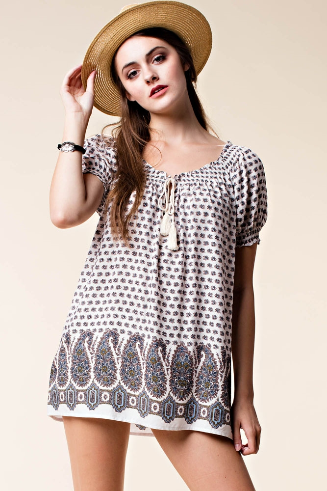 MODERN MUSE PRINT TOP - orangeshine.com