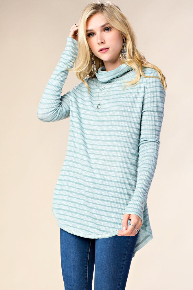 COWL NECK SWEATER TOP - orangeshine.com
