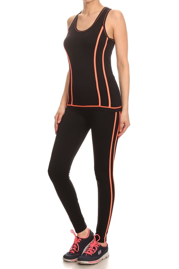 Activewear Sets solid color - orangeshine.com