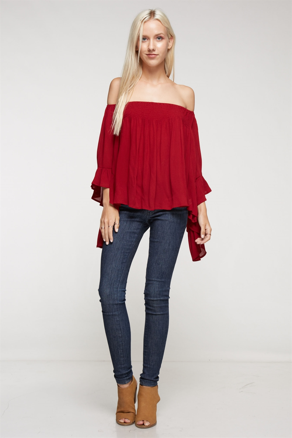 Off-The-Shoulder Ruffle Top - orangeshine.com