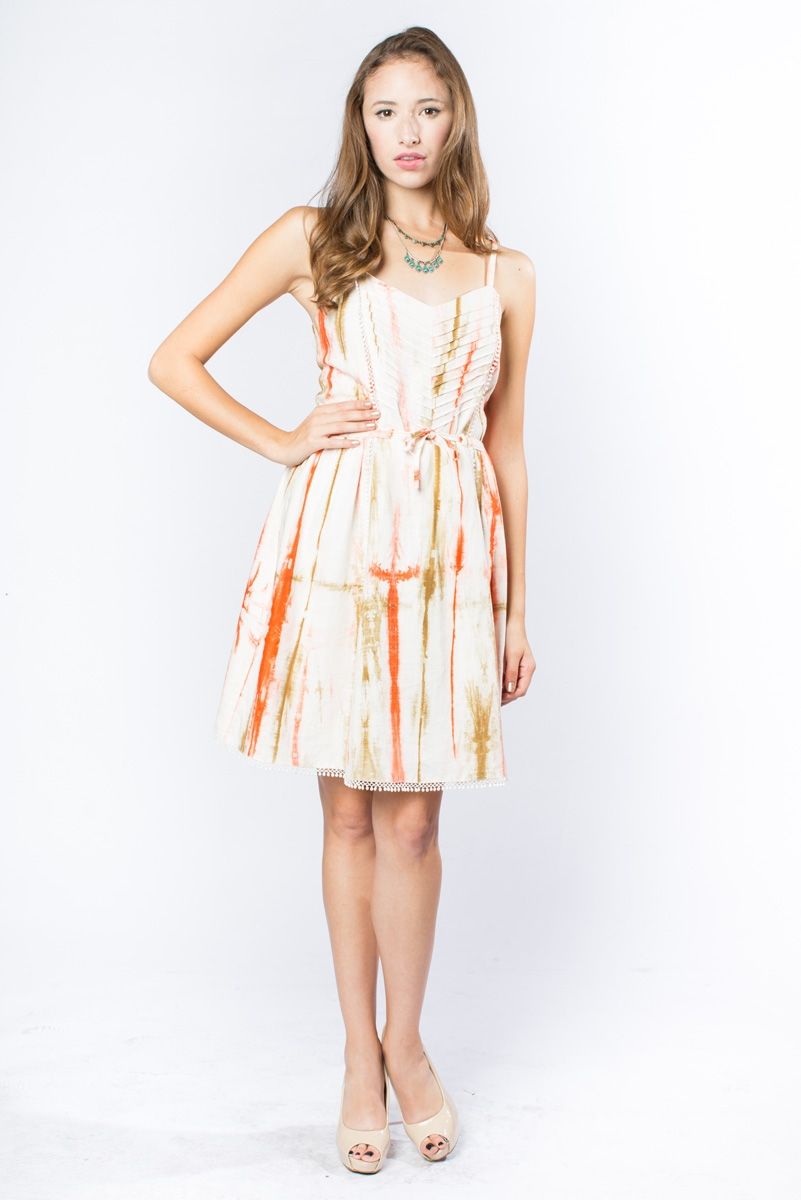 ROSE FUSION PIN-TUCK DRESS - orangeshine.com