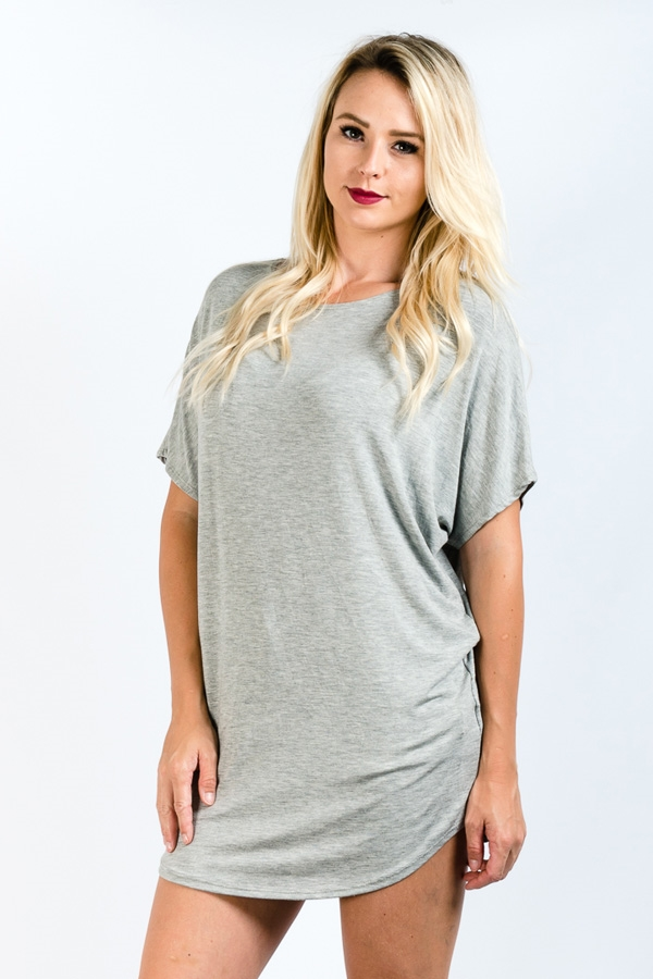 SOLID LOOSE FIT TUNIC TOP - orangeshine.com