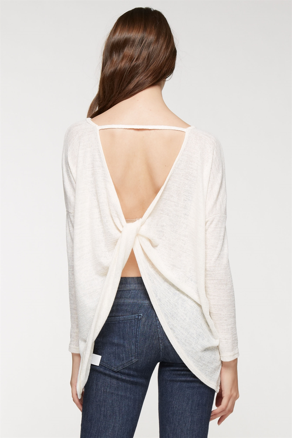 Long sleeve twist back top - orangeshine.com