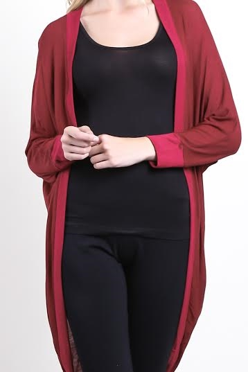 Lengthened Cardigan - orangeshine.com