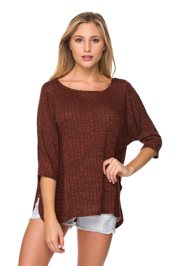 3/4 SLEEVE ROUND NECK LOOSE FI - orangeshine.com