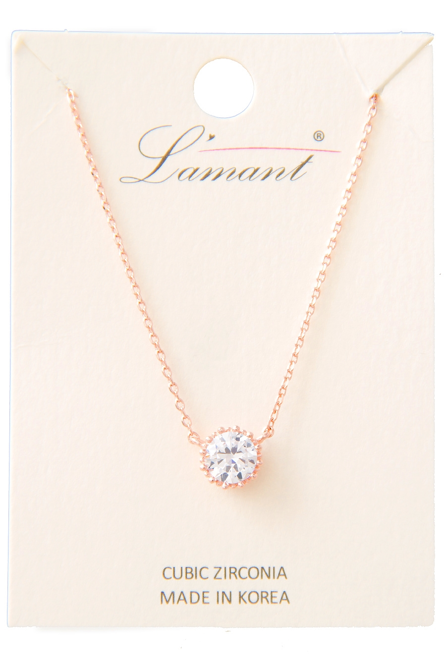 DAINTY ROUND STUD NECKLACE - orangeshine.com