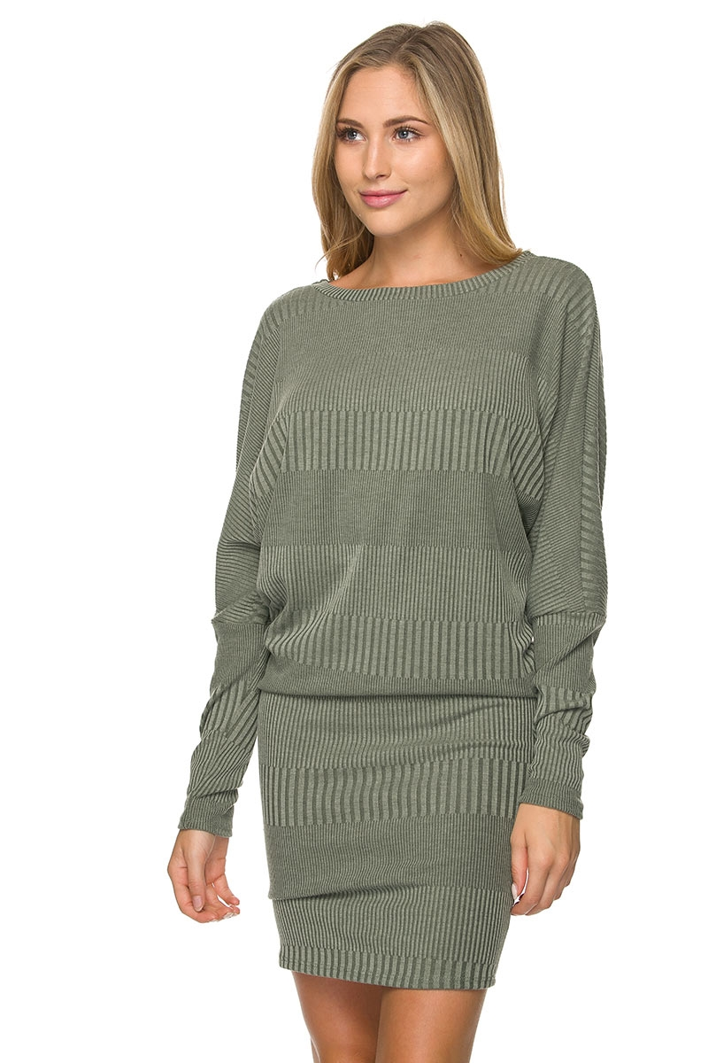 LONG SLEEVE SCOOP NECK KNIT RI - orangeshine.com