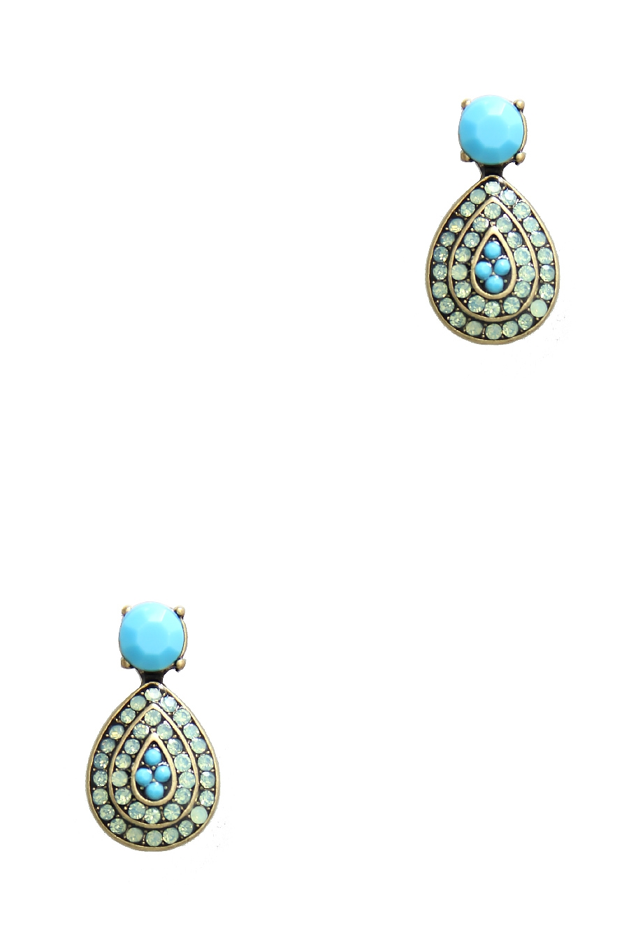 CRYSTAL TEARDROP EARRING - orangeshine.com