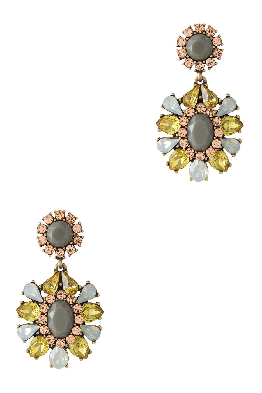 JEWELED STONE DROP EARRING - orangeshine.com
