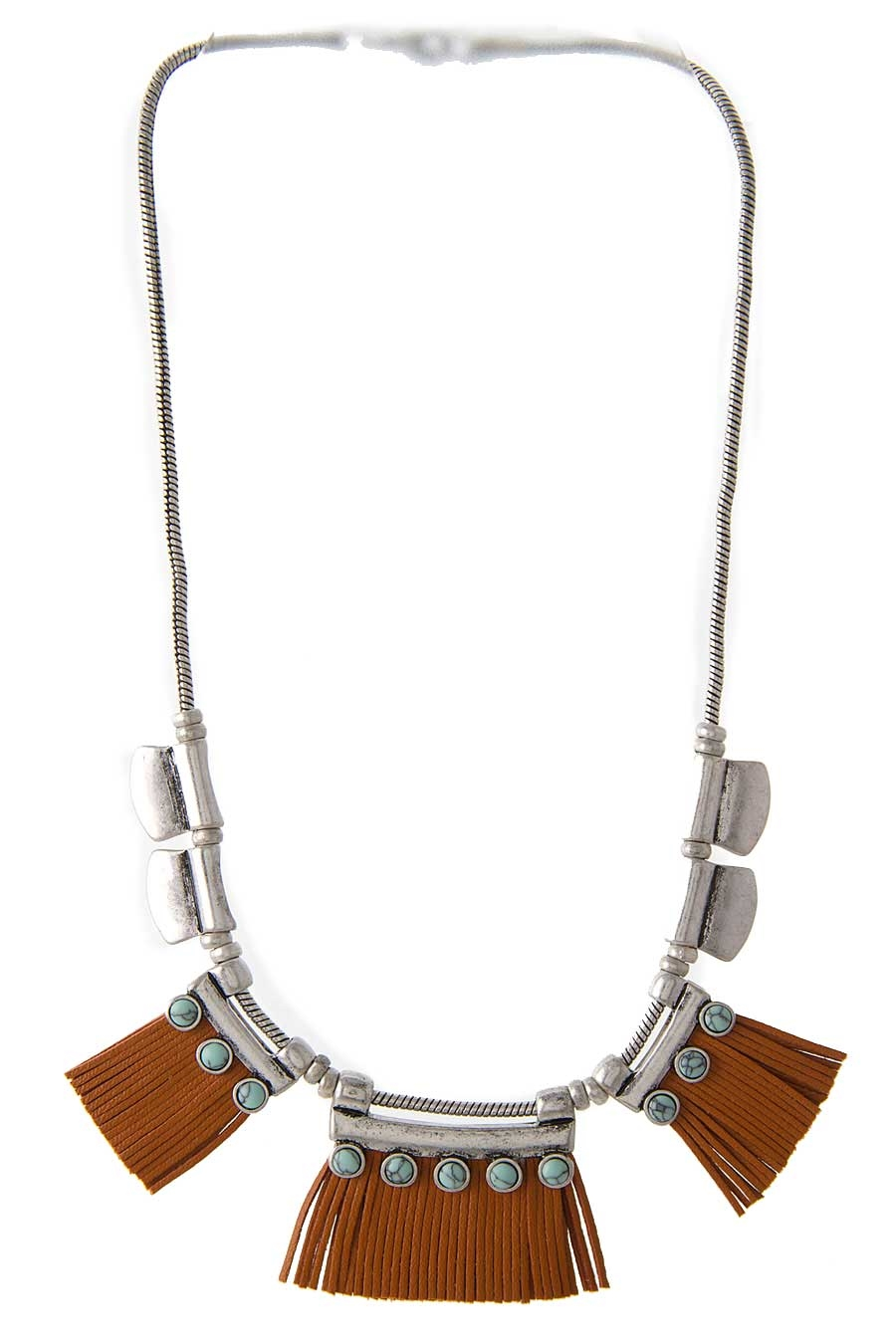 BOHO LEATHER BIB NECKLACE SET - orangeshine.com