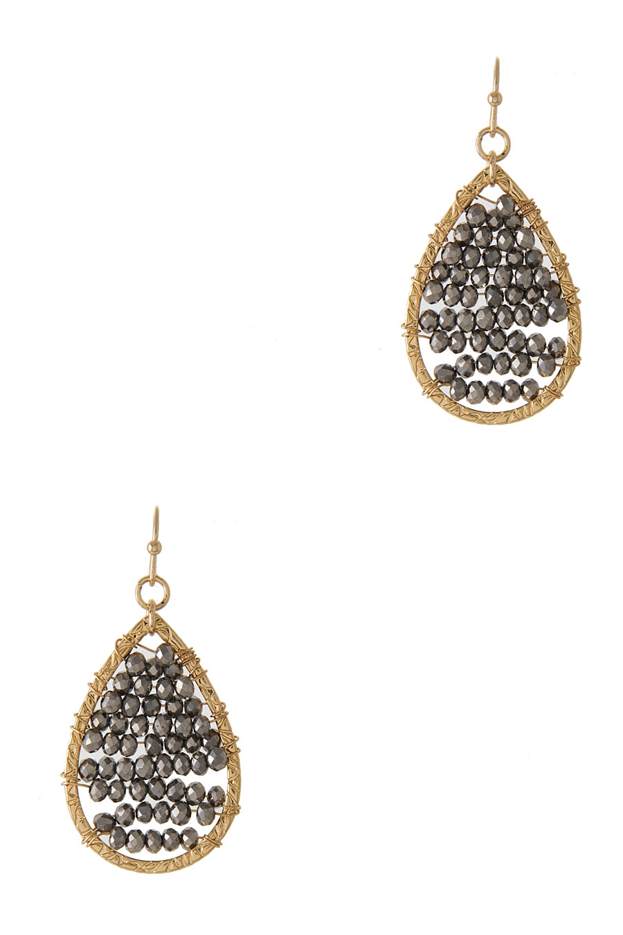 GLASS BEADS TEARDROP EARRING - orangeshine.com