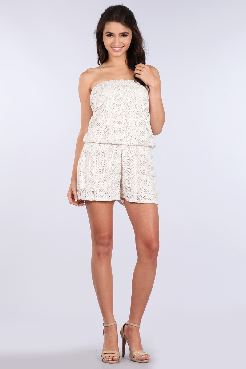 LACE CROCHET TUBE ROMPER - orangeshine.com