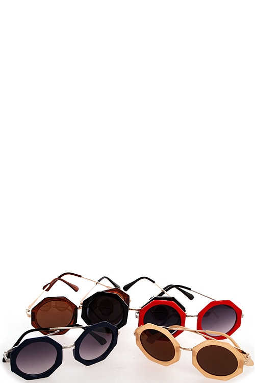 Hexagonal Colored Sunglasses - orangeshine.com