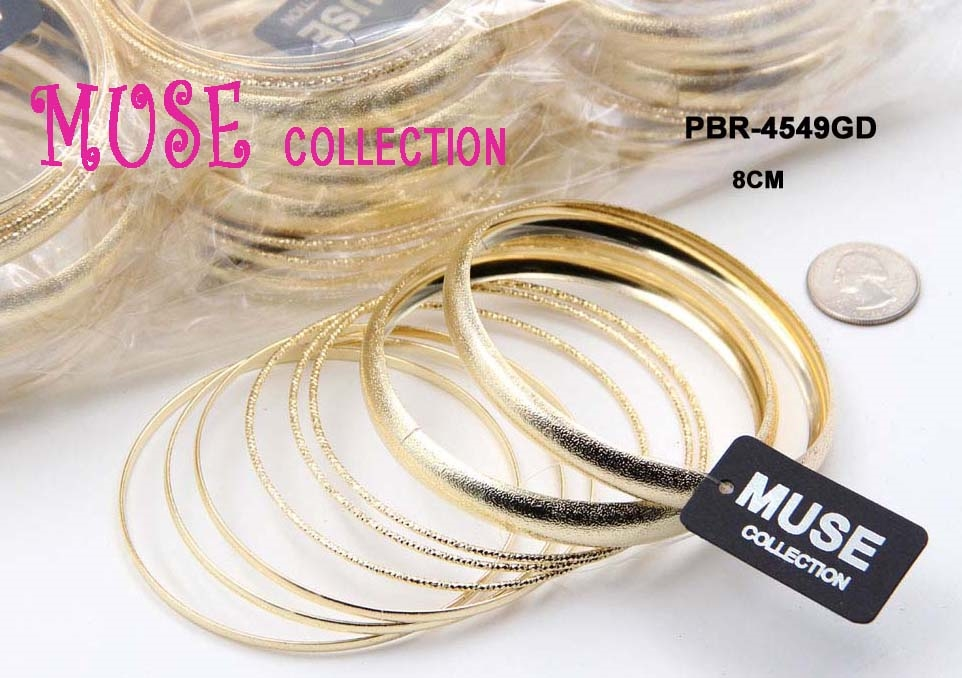 MULTIPLE TEXTURED BANGLE SET - orangeshine.com