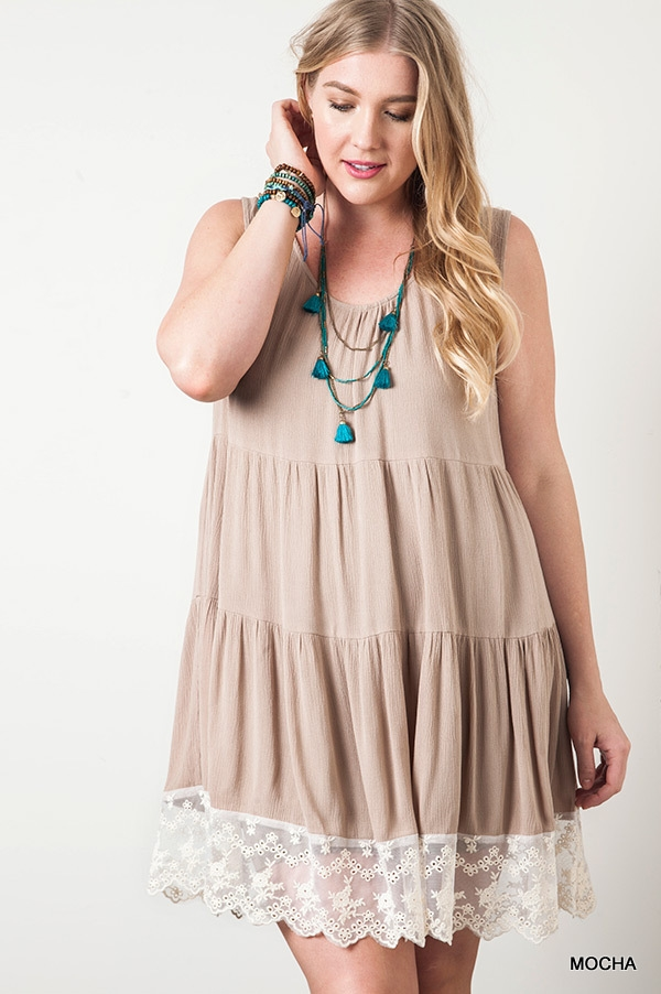 SLEEVELESS TIERED DRESS - orangeshine.com