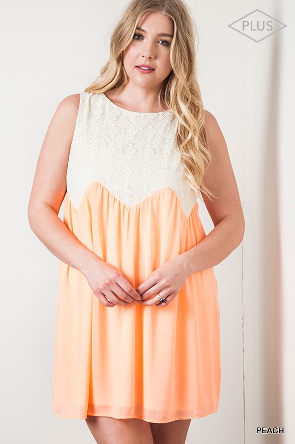 SLEEVELESS SHIFT DRESS - orangeshine.com