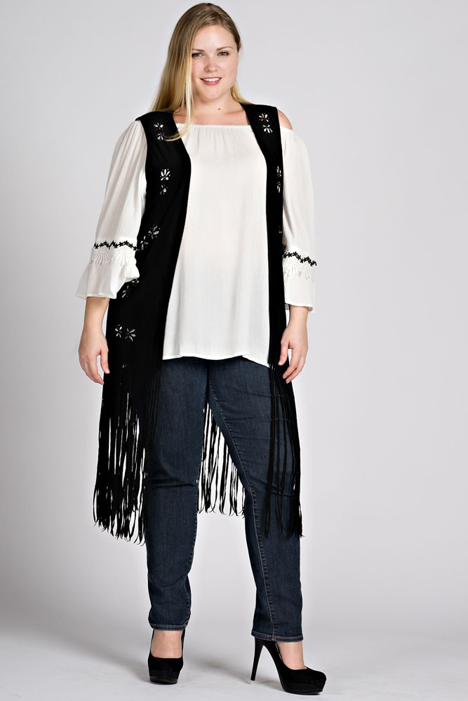 SLEEVELESS FRINGE VEST - orangeshine.com