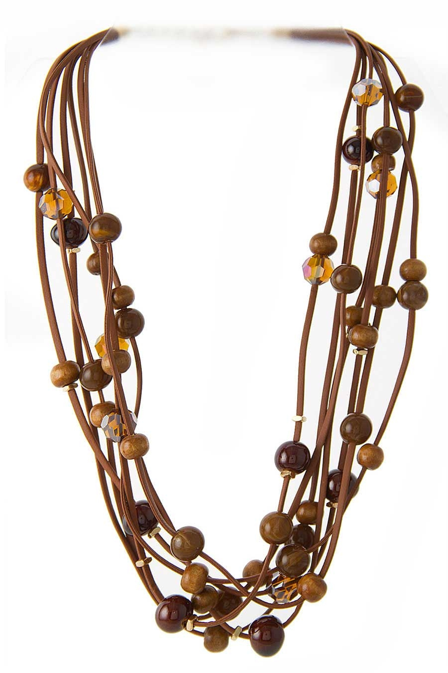 GLASS  STONE BEADS NECKLACE - orangeshine.com